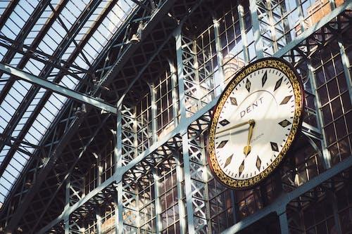 Fotobanka sbezplatnými fotkami na tému čas, nosníky, oceľová konštrukcia, st pancras železničnej stanice