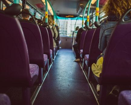 Free stock photo of people, sitting, public transportation, bus