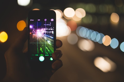 Free stock photo of road, hand, night, iphone