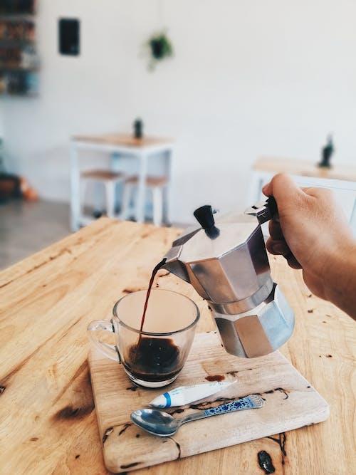 Gray Metal Coffee Pot