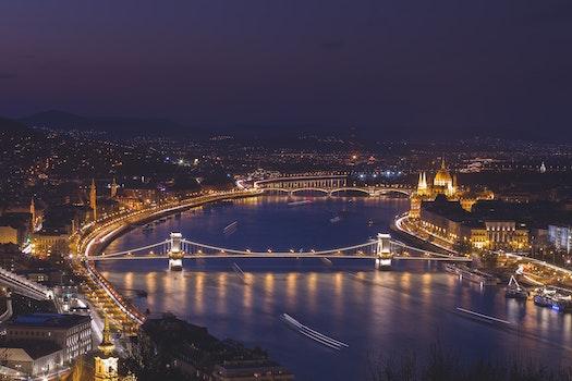 Free stock photo of city, lights, night, bridge
