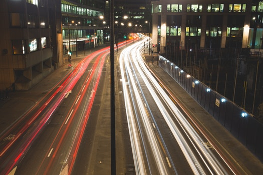 Free stock photo of cars, traffic, lights, night