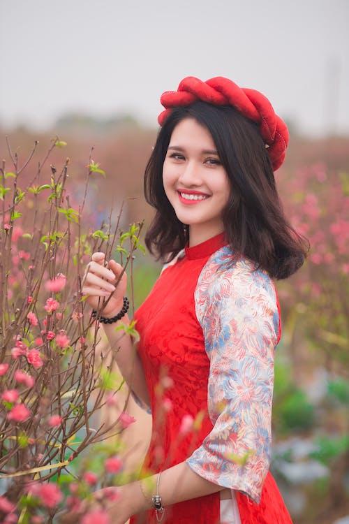 Free stock photo of blossom, girl, smiling, vietnamese