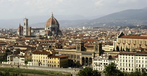 Free stock photo of aerial view, beautiful, city, florence