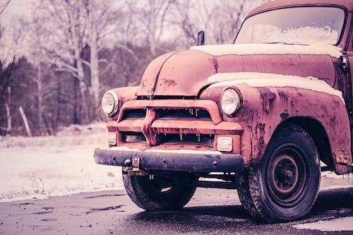 Kostenloses Stock Foto zu auto, eis, gefroren, klassisch