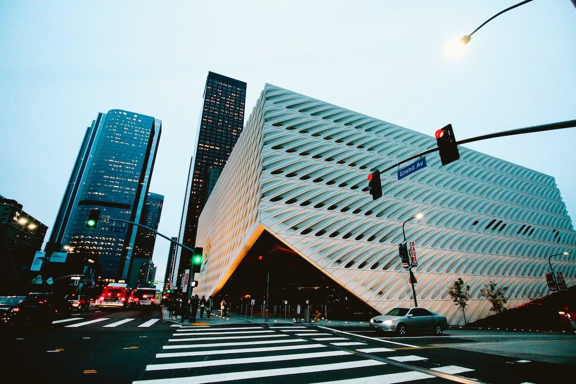가벼운, 거리, 건물