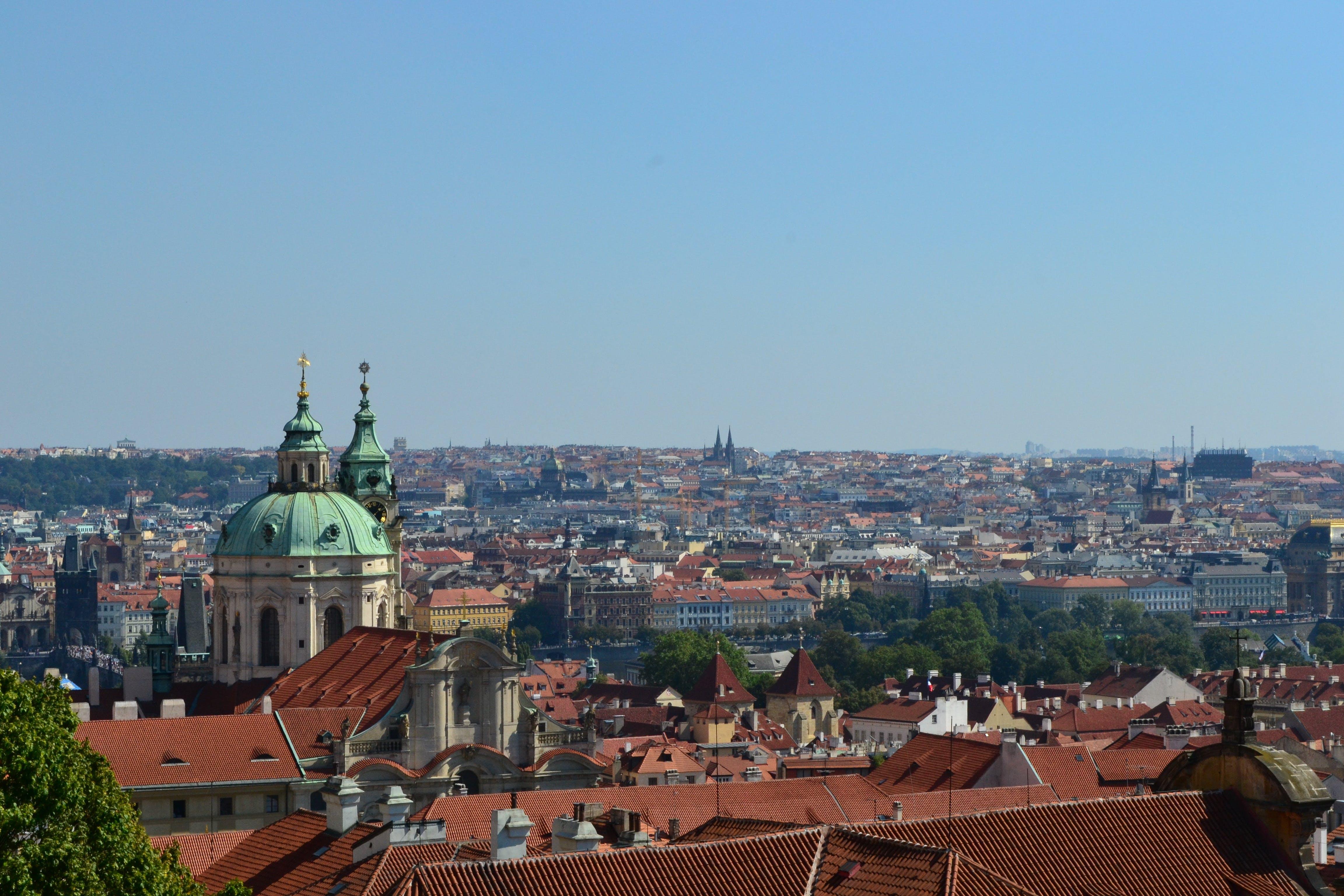 Free stock photo of church, city, czech republic, panorama