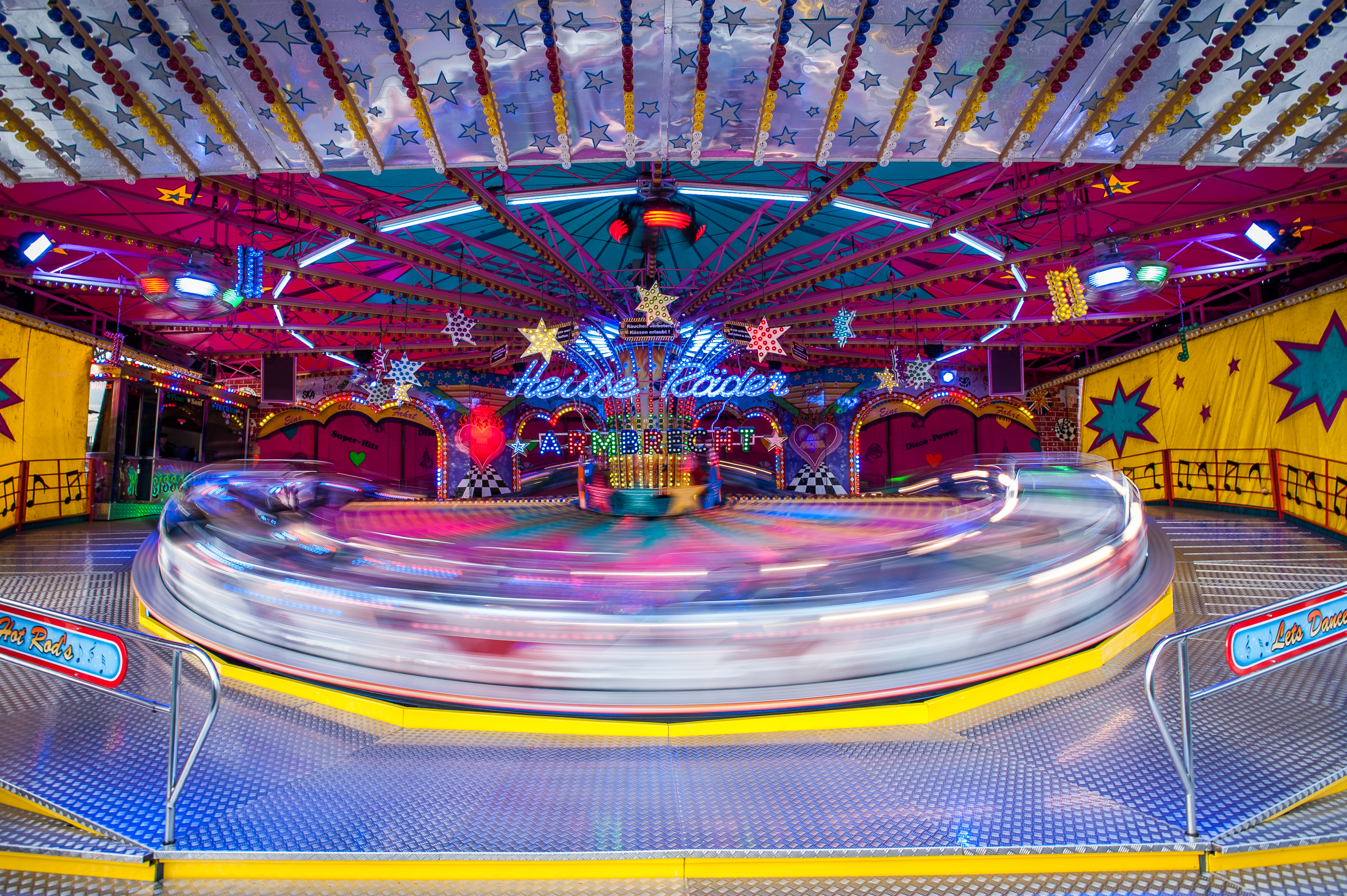 Timelapse Photography of Carousel