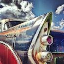 car, vintage, rust