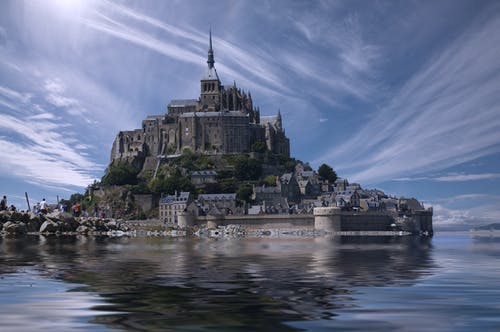 ゴシック, フランス, モンサンミッシェル, ランドマークの無料の写真素材