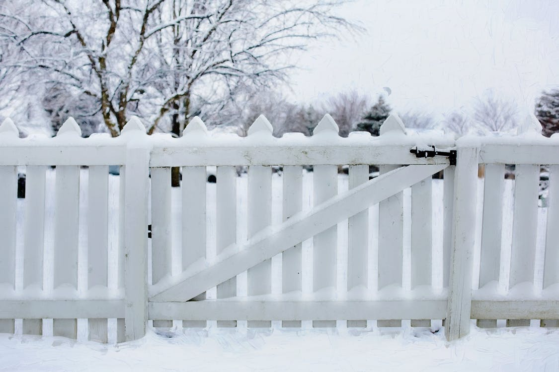 Photo Of Snow Covered Fence