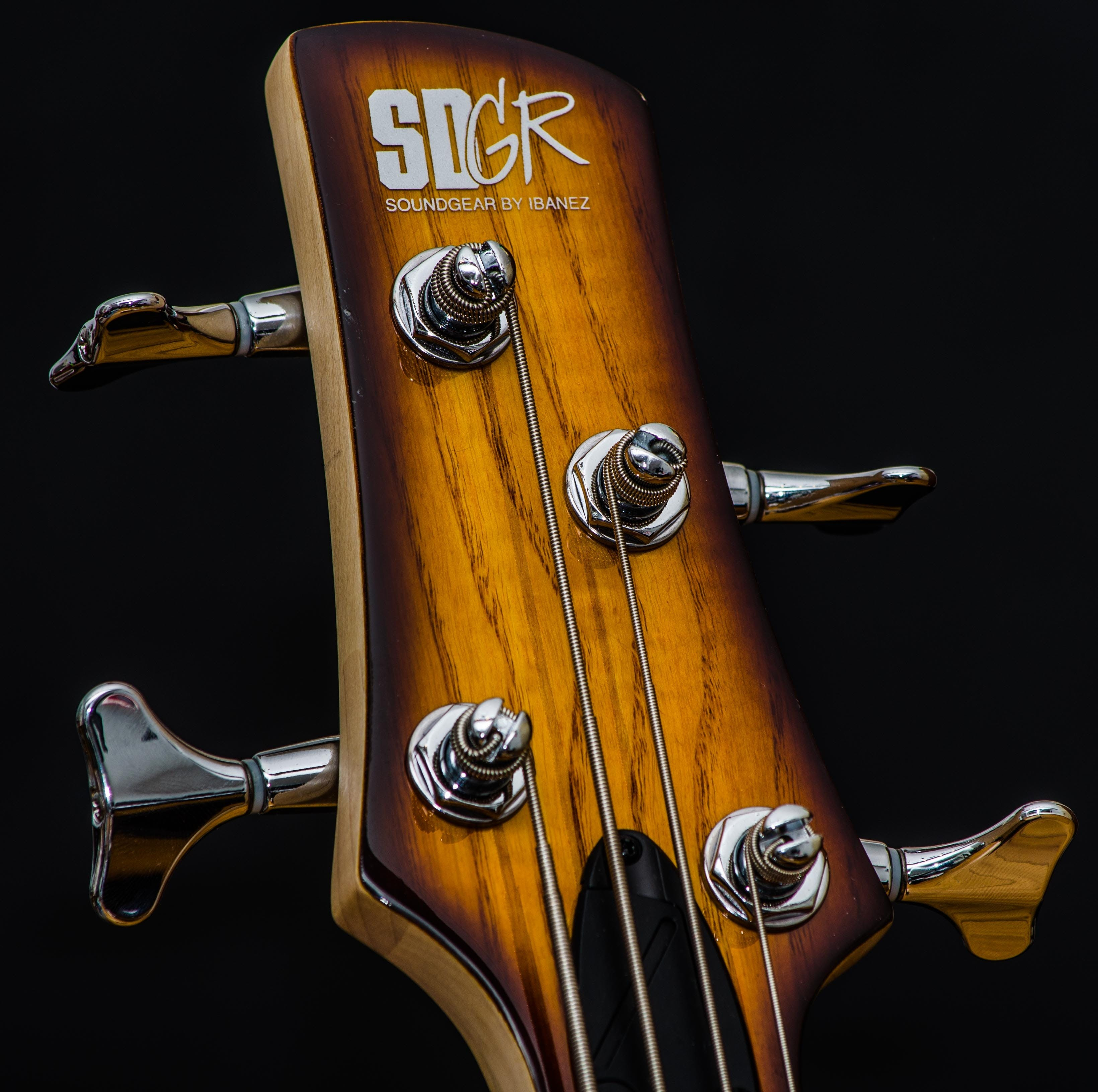 Brown Sdgr Guitar Headstock