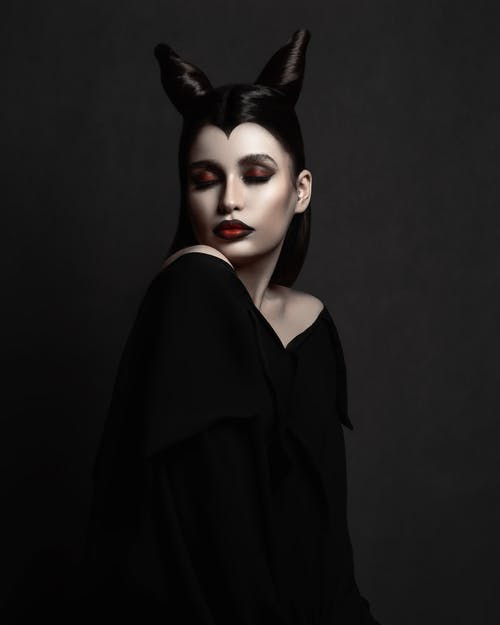 Photo of Woman Wearing Maleficent Costume
