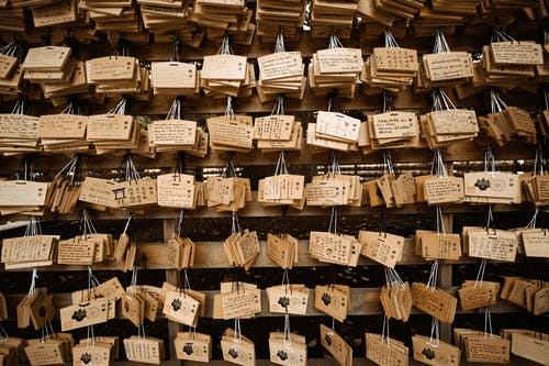 Lots of Hanging Wooden Keychains
