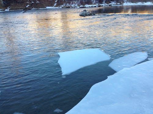 冰流, 加拿大, 日落, 橙子 的 免费素材照片