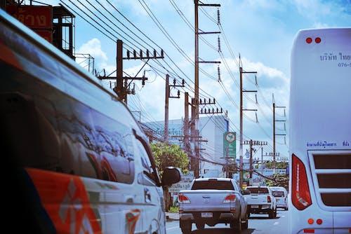 Foto d'estoc gratuïta de Bangkok, carrer de la ciutat, carrer molt transitat, ciutat