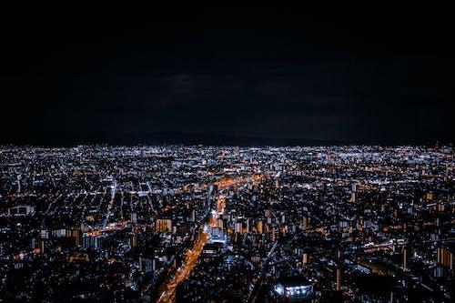 Základová fotografie zdarma na téma budovy, drone kamera, fotografie zdronu, horizont nad zemí