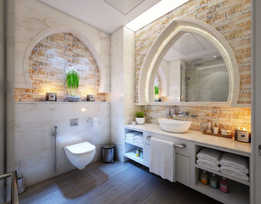 bathroom, cabinet, candles