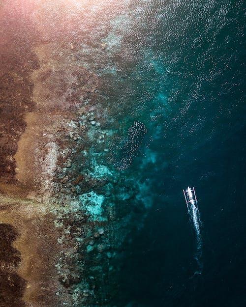 Fotos de stock gratuitas de bali, barca, cuerpo de agua, desde arriba
