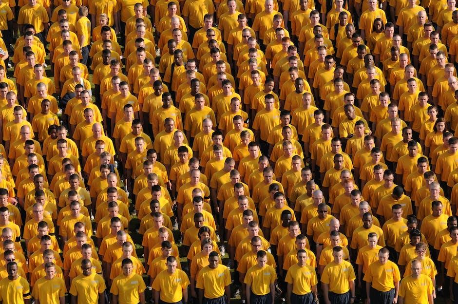 Group of Lining Men