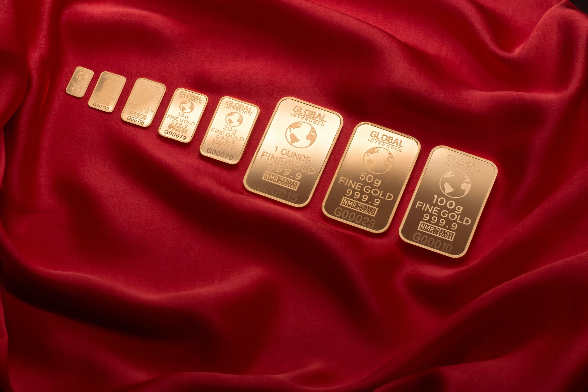 Assorted-weight Gold-colored Gold Plated Bars
