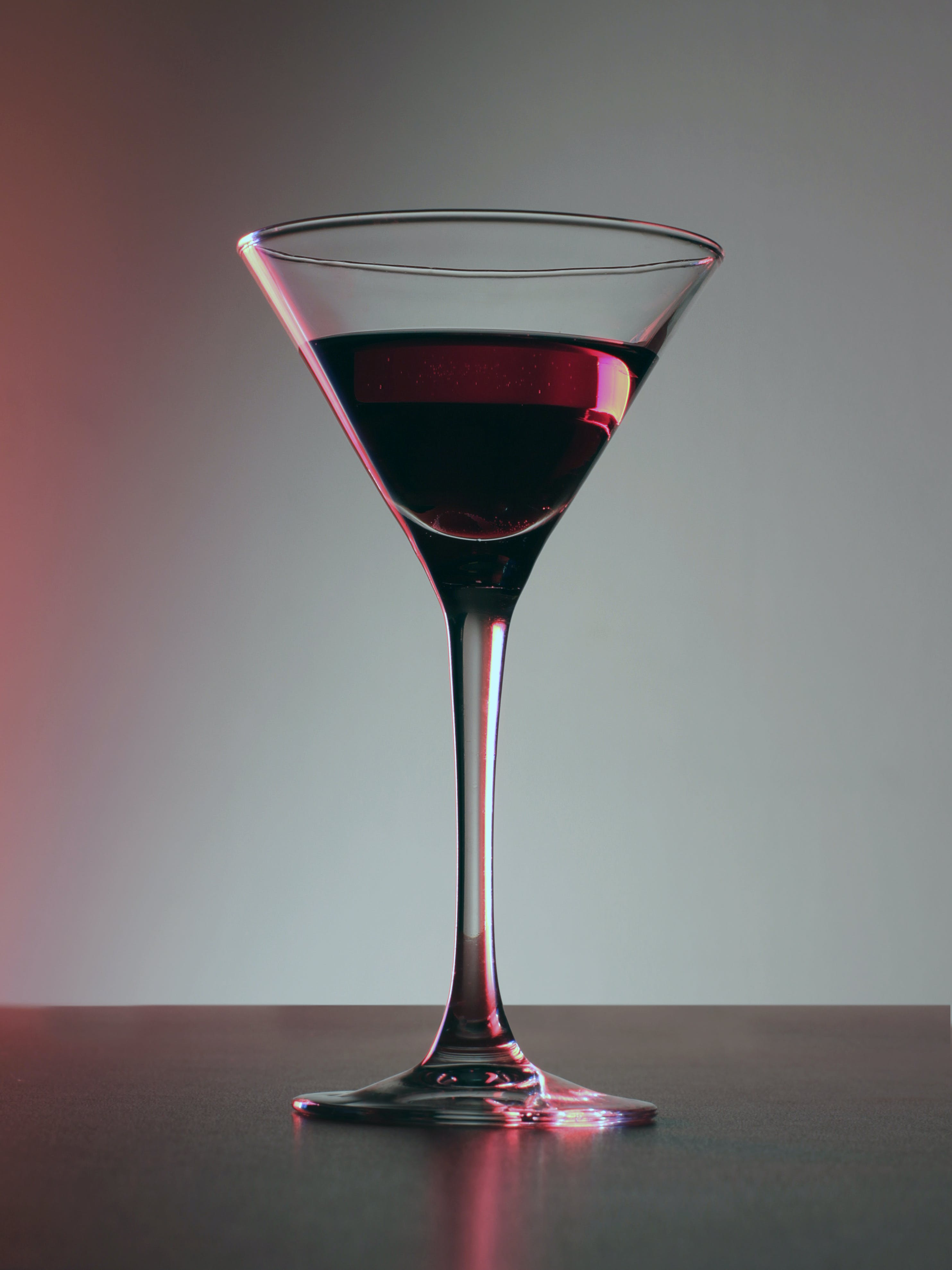Clear Martini Glass With Wine