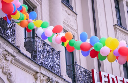 Free stock photo of balloons, carnival, colors