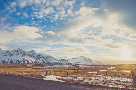 Kostenloses Stock Foto zu kalt, gletscher, schnee, straße
