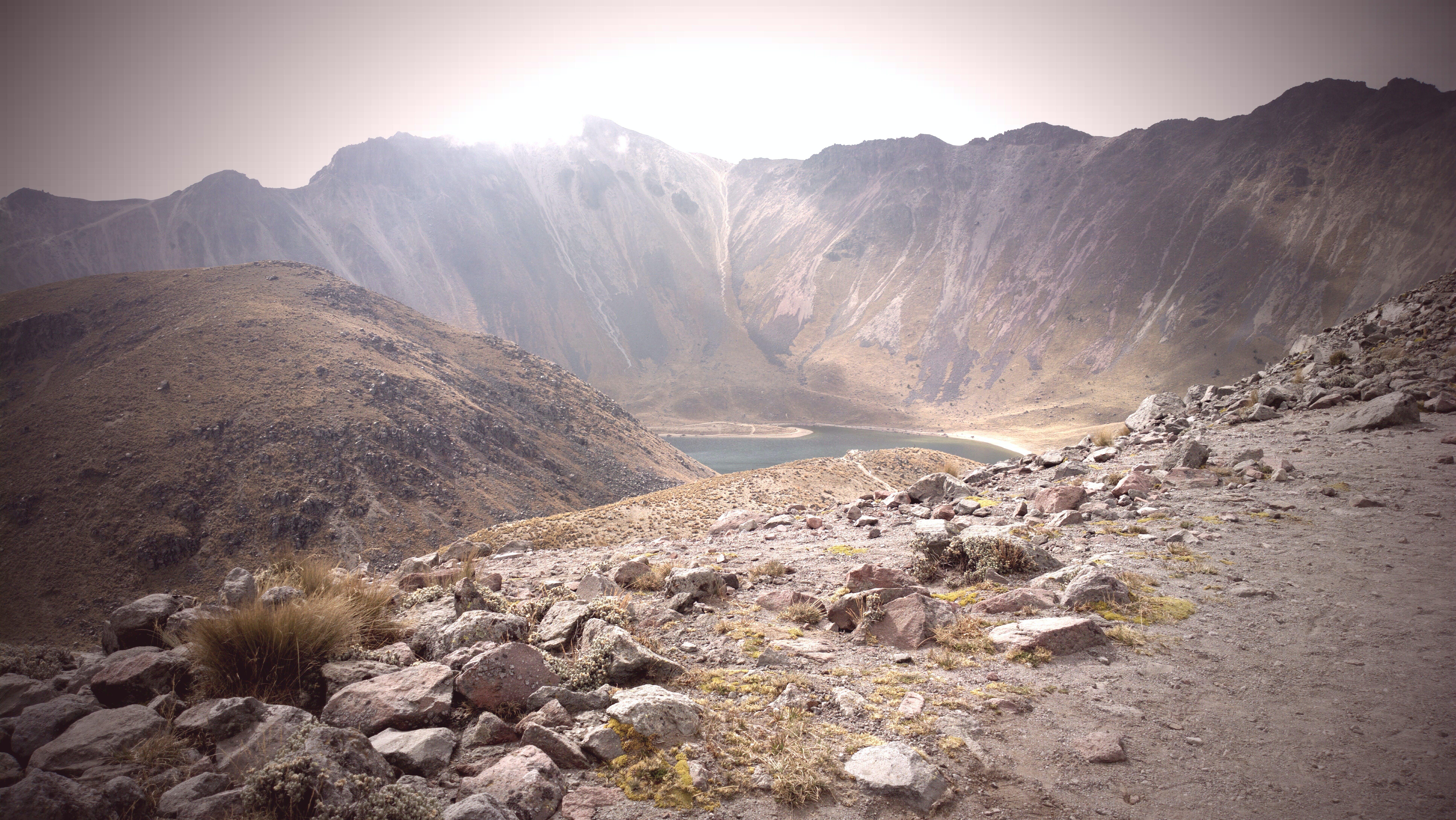 Free stock photo of isolation, lake, landscape, volcano