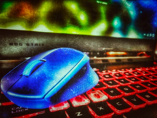 Free stock photo of keyboard, mouse, screen