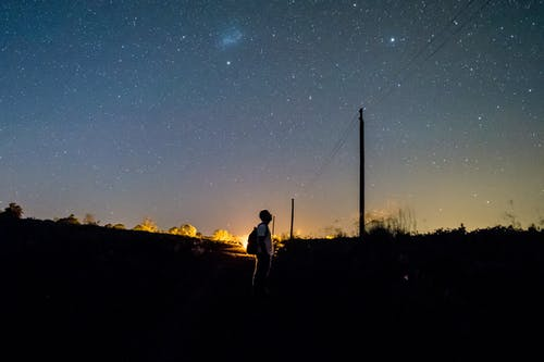 Free stock photo of alone, estrellas, largaexposicion
