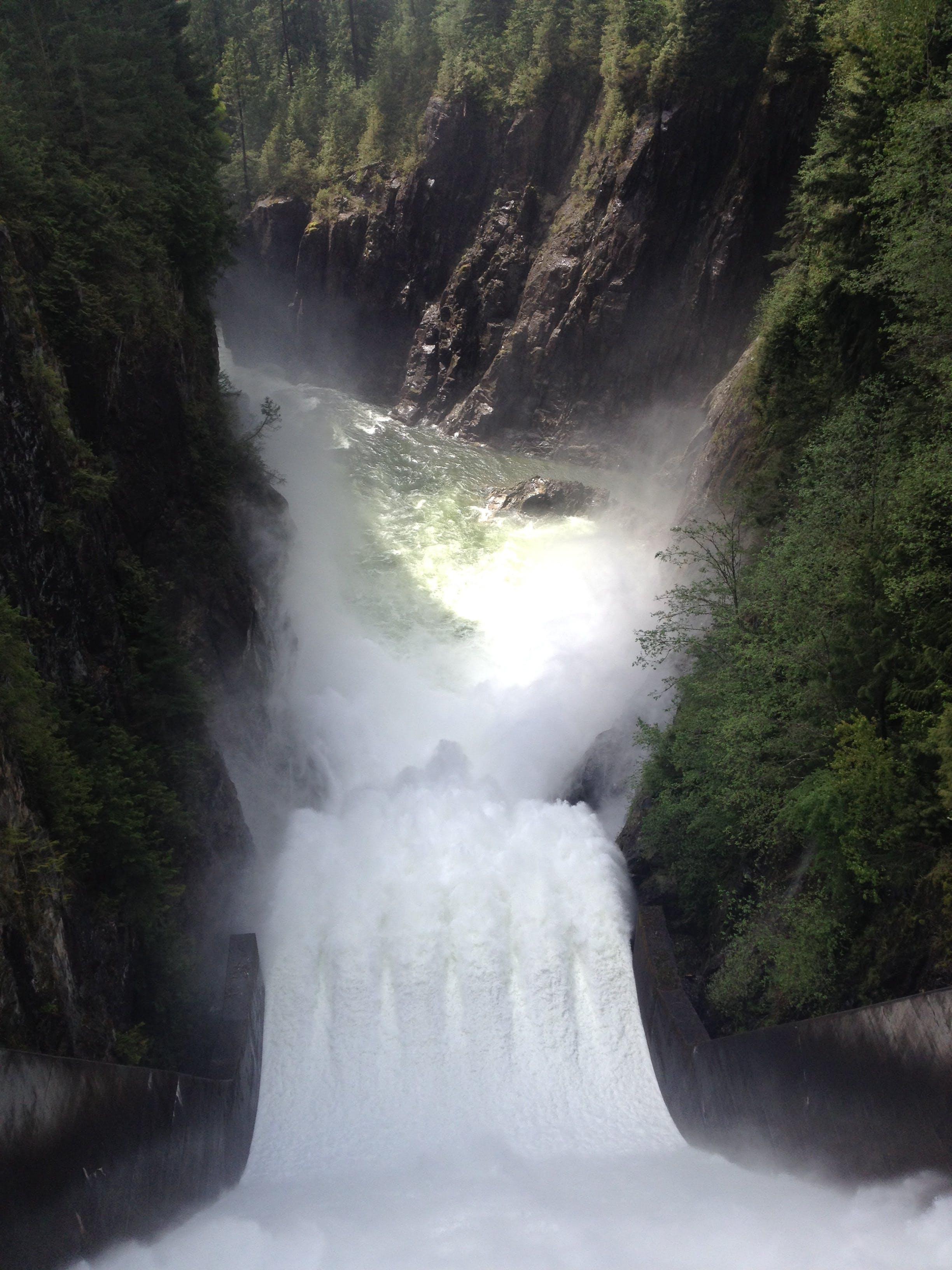 Free stock photo of british columbia, canada, dam, looking down
