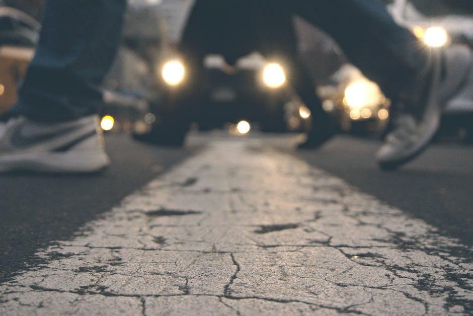 People Crossing on Street