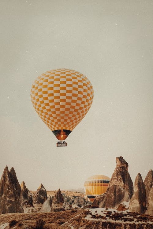 Hot Air Balloon Flying on Air