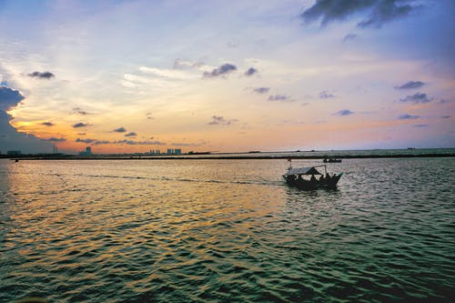 Free stock photo of ancol, beach, boat, evening sky