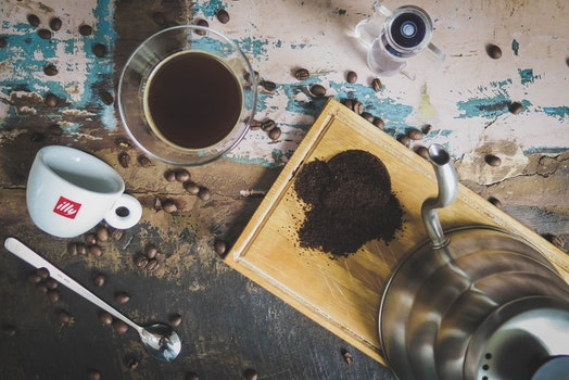 Free stock photo of wood, beans, coffee, cup