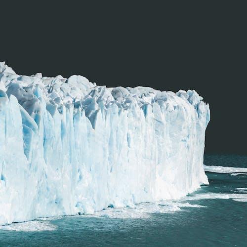 Rough floating iceberg in Arctic ocean