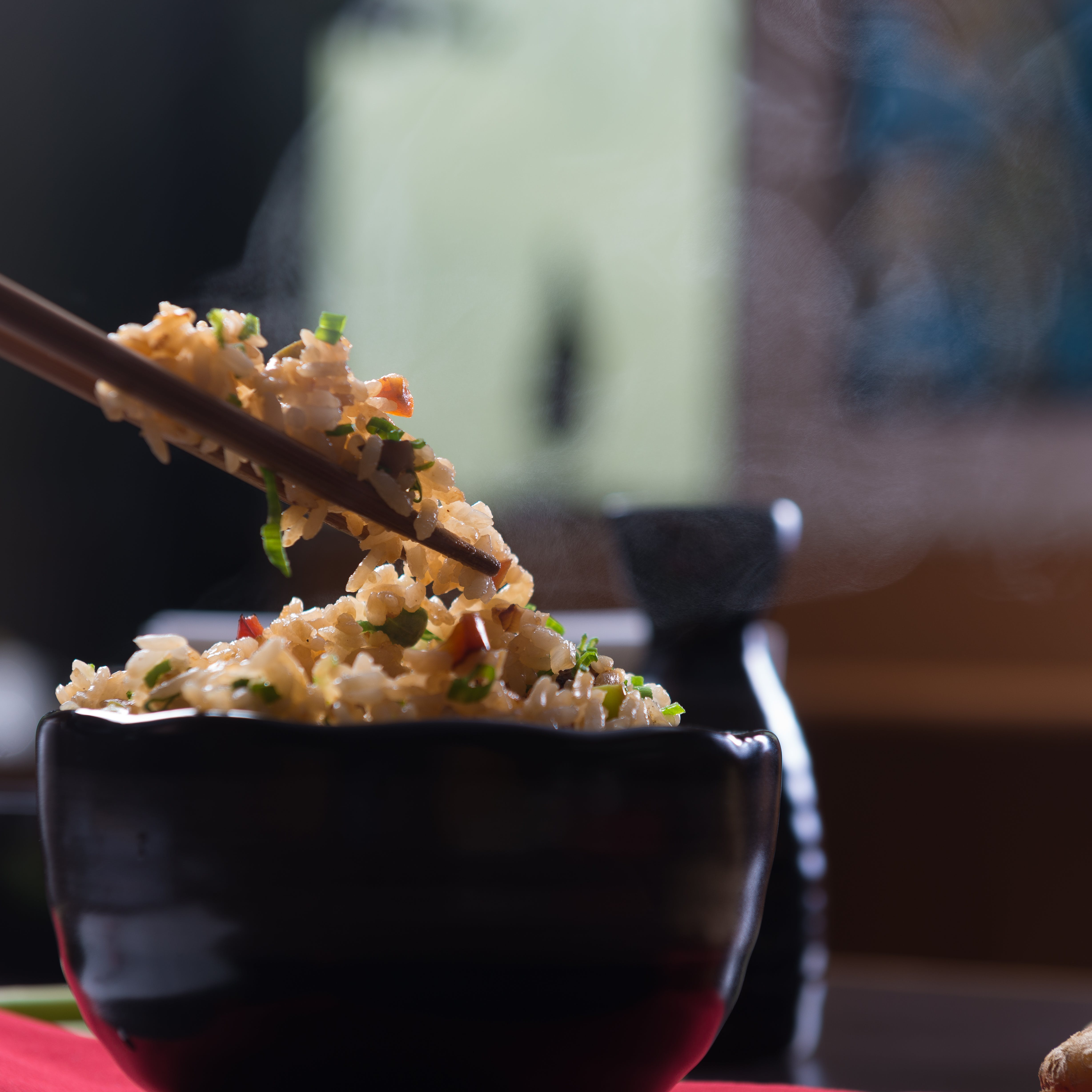 Selective Focus Photography of Fried Rice in Bowl