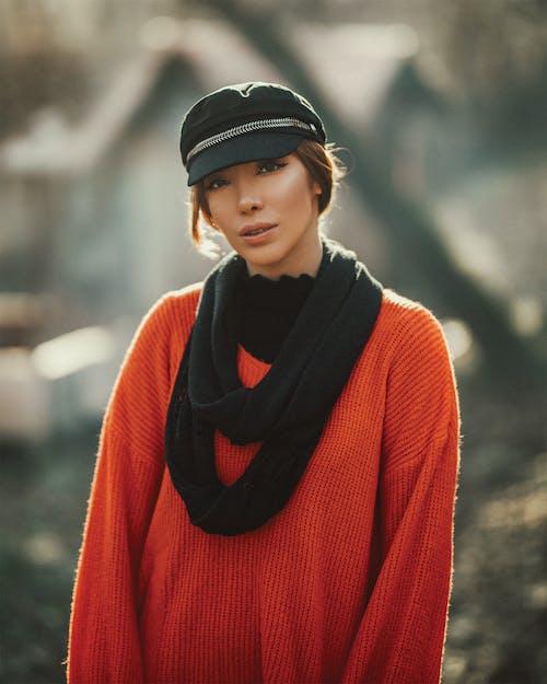 スカーフ, スタイル, ニット, ニットセーターの無料の写真素材