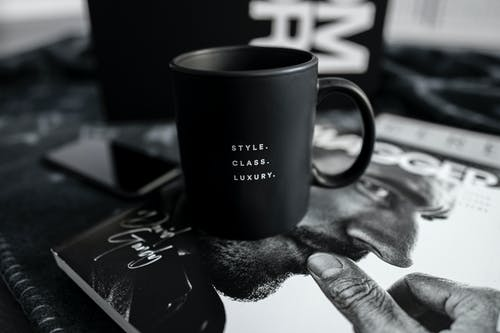Black and White Ceramic Mug