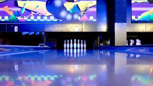 Bowling Pins Set on Ground