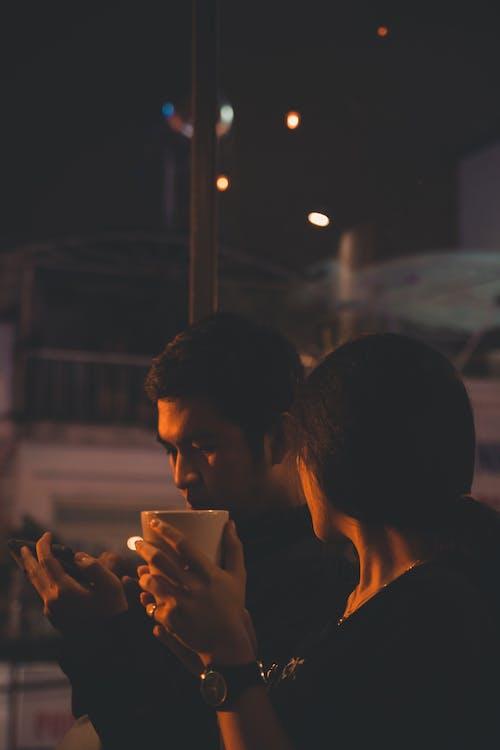 Free stock photo of asian couple, beautiful, coffee, coffee shop