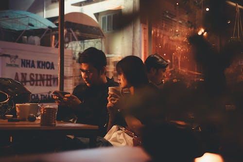 Free stock photo of asian couple, coffee, coffee shop, happy