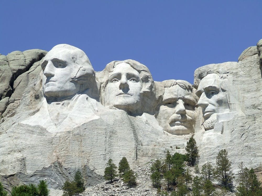 An image of Mount Rushmore in Keystone, SD.