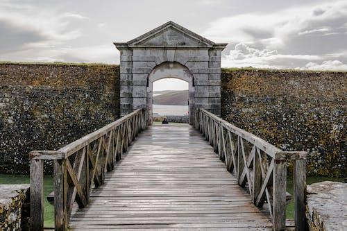 Free stock photo of archway, black and white, bridge, doorway