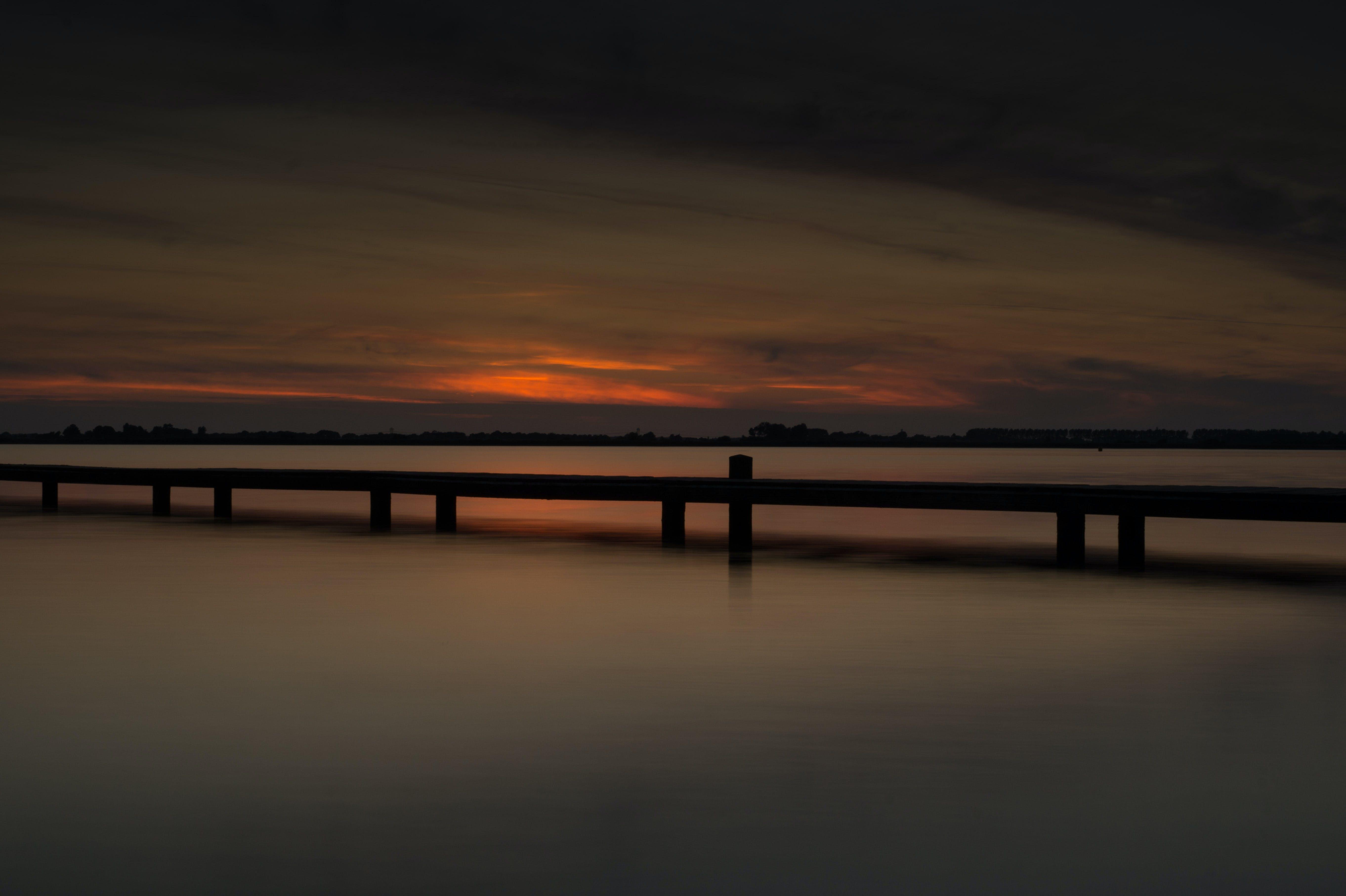 Free stock photo of sea, sunset, long-exposure, dusk