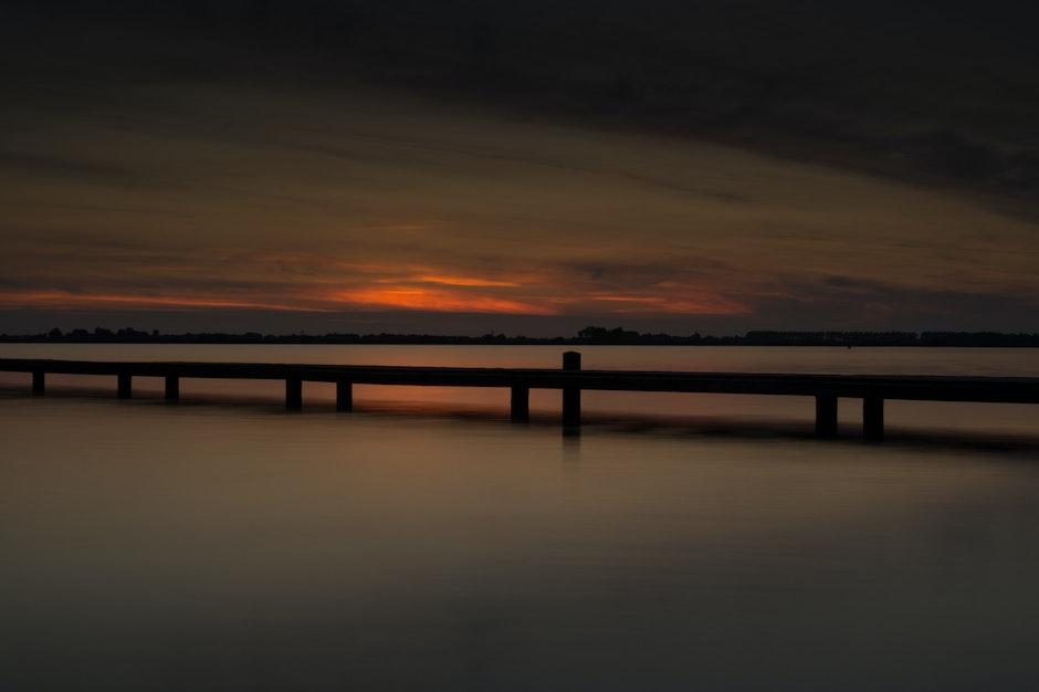 dusk, long-exposure, sea