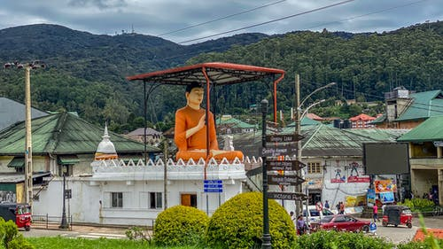 Free stock photo of buddha, Buddha statue, buddha statue in town