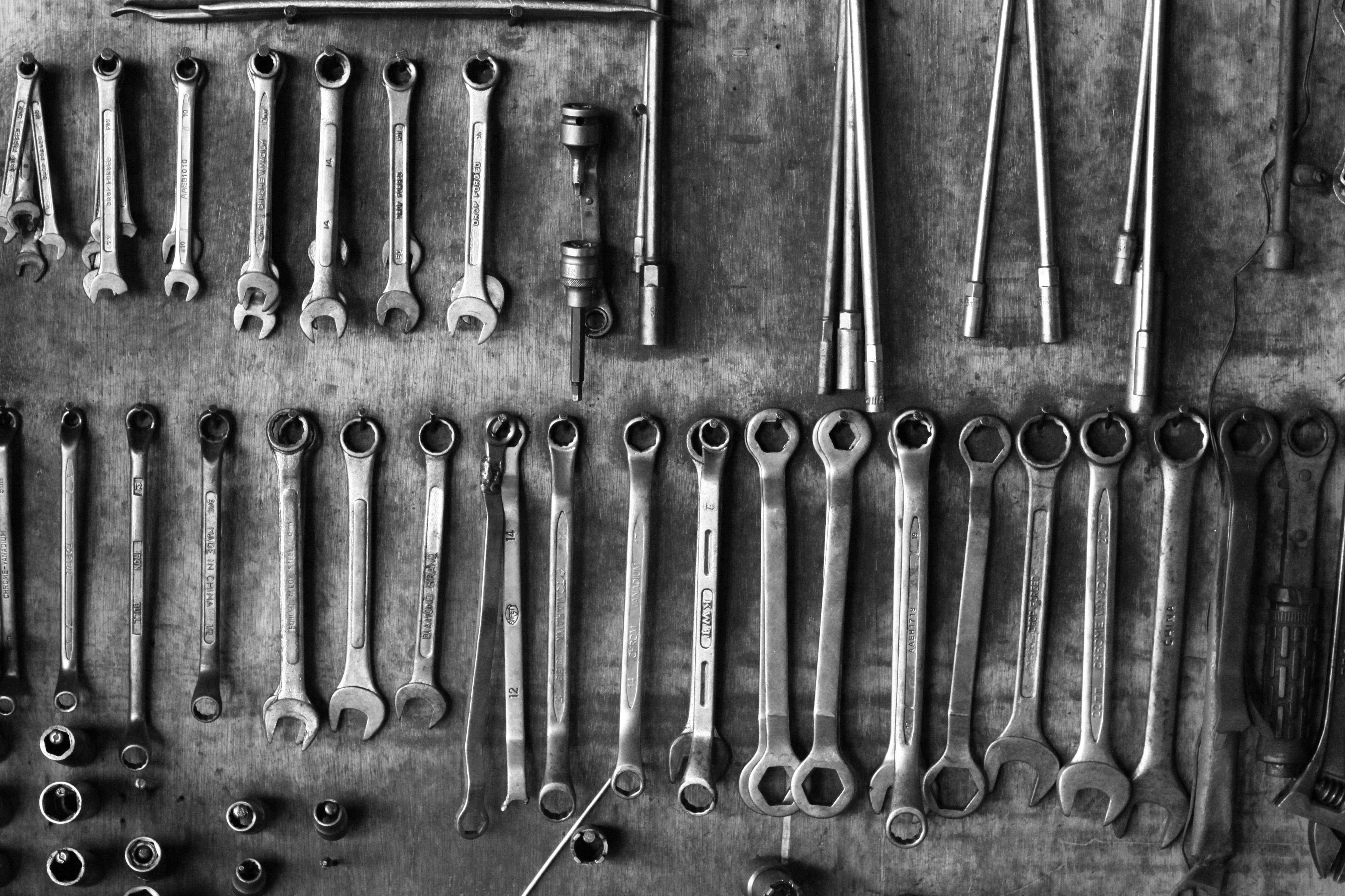 Free stock photo of dark, dirty, tools, wrench