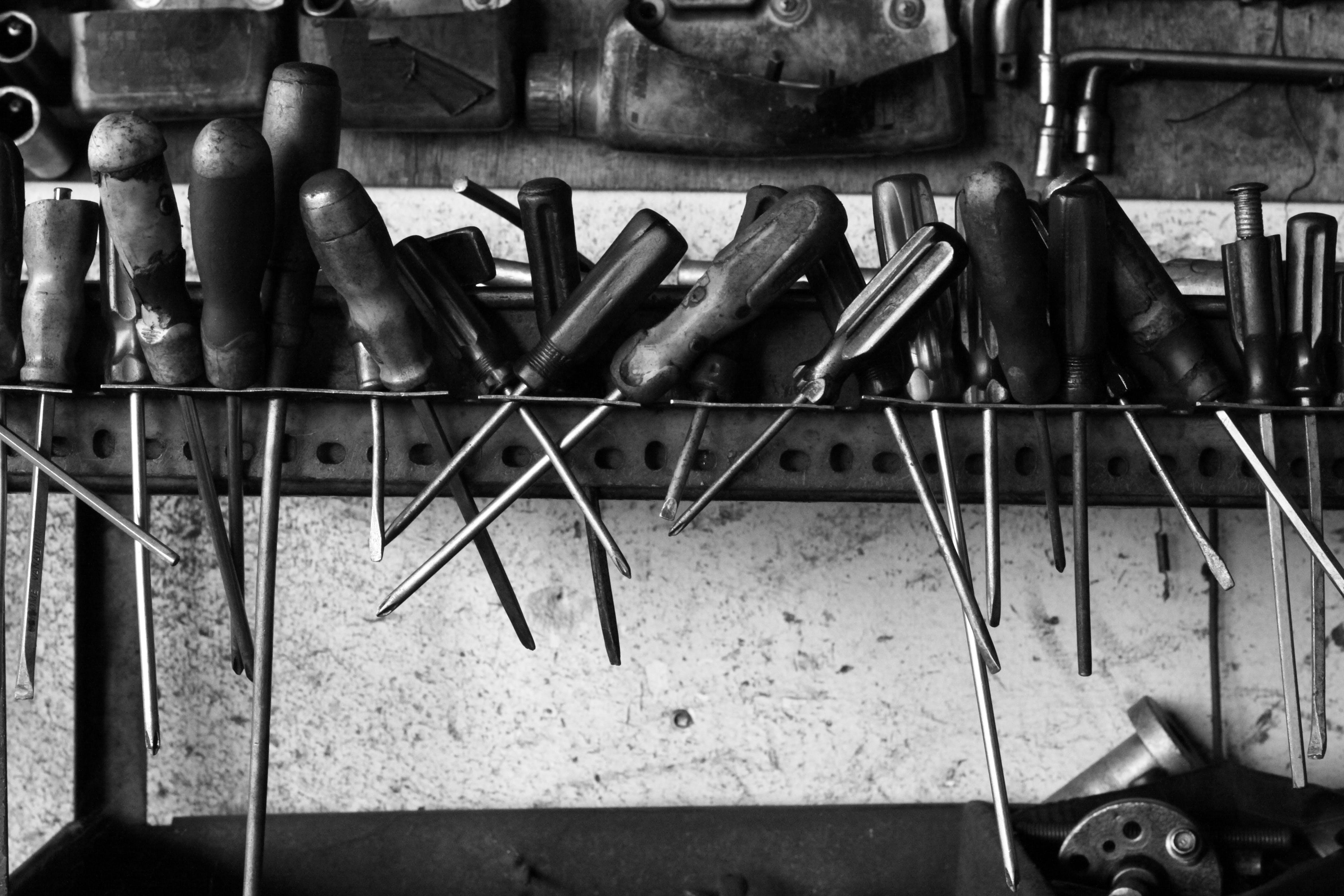 Free stock photo of dark, dirty, mess, screwdriver